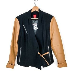 G.I.L.I. Got it Love it Leather Sleeve Moto Blazer